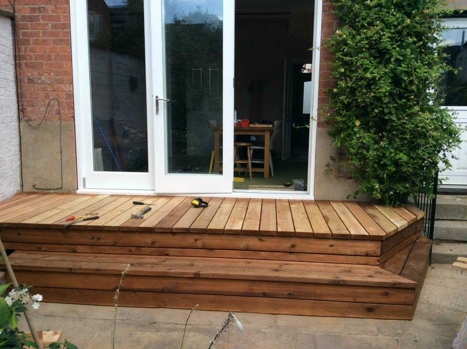 Cedar decking and veranda